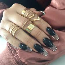 Nail Art Design Black 69 Impressive Coffin Nails You Always Wanted To Sport