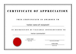 10 certificate of appreciation template free download