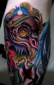 vulture head tattoo by jonathan montalvo tattoonow