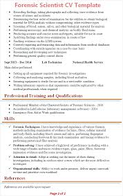 science resume template forensic scientist cv template tips and cv plaza