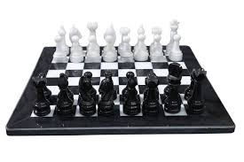 amazon com marble chess set black white toys u0026 games