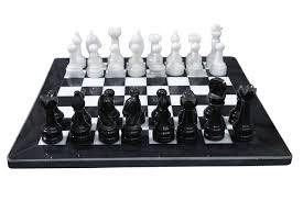 Amazon Chess Set Amazon Com Marble Chess Set Black White Toys U0026 Games