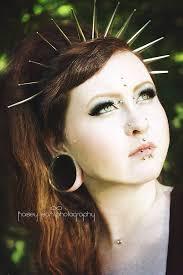 spiked headband spiked crown spike headband silver spikes black