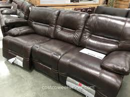 Leather Power Reclining Sofa Pulaski Leather Power Reclining Sofa Costco Furniture Home Theater