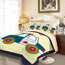Childrens Duvet Cover Sets Super Cute Police Car Print Kids Duvet Cover Sets With Fitted