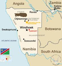 Namibia Map Travel Information Hunting Safaris Africa Ozondjahe
