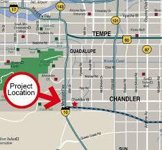 map of chandler az santan technology park chandler arizona area maps