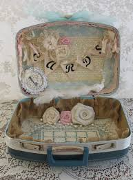 Shabby Chic Wedding Decoration Ideas by Vintage Suitcase Wedding Card Box Flower Basket Ring Bearer