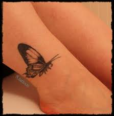 butterfly tattoos design on leg spider tattoos