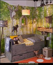 theme bedroom ideas stain accessories woodland forest theme bedroom decorating