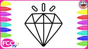draw paw patrol color u0026 learn draw diamond gem