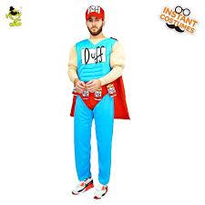 Amazing Halloween Costumes Sale Aliexpress Buy 2017 Male Duffman Muscle Costume Funny