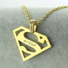 Mens Personalized Necklace Aliexpress Com Buy Superman Necklace Gold Color Personalized