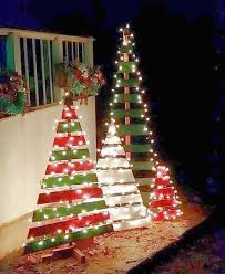 creative christmas tree lights outdoor wooden pallet trees these are the most creative christmas