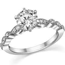 milgrain engagement ring forever one moissanite milgrain engagement ring