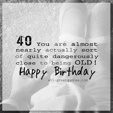 birthday funny free 40th birthday card