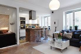 Combined Living Room And Dining Room Cool Kitchen And Living Room Combined Designs With Wooden Floor