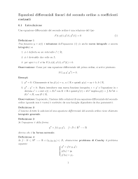 geometria differenziale dispense dispense equazioni differenziali o d e in particolare docsity
