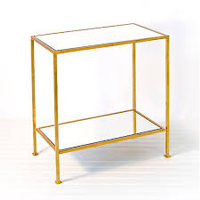 Gold Side Table Worlds Away Plano 2 Tier Rectangular Gold Side Table Matthew Izzo