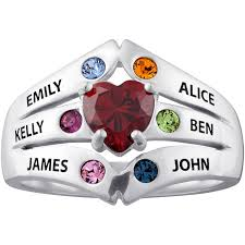 s ring personalized sterling silver or 14k gold silver birthstone
