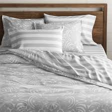 Duvet Covers Gray Update Bedrooms With Stylish Duvet Covers Crate And Barrel