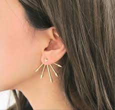 front and back earrings gold spike ear jackets front back earrings spike ear jackets