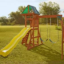 How To Build A Wooden Playset Amazon Com Swing N Slide Scrambler Playset Toys U0026 Games