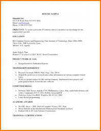 The Standard Resume Format For by Standard Resume Format For Freshers Freshers Raw Resume Sample