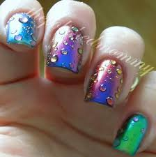 striped rainbow water marble nail art tutorial youtube nail art