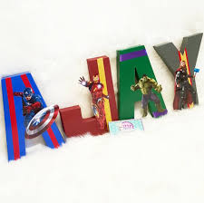 Paper Mache Ideas For Home Decor Avengers For Ajay Unique And Custom Painted Letters Any Theme Can