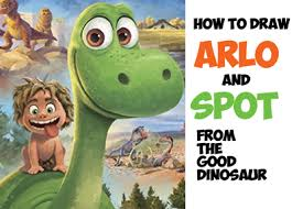how to draw arlo and spot from the good dinosaur easy step by step