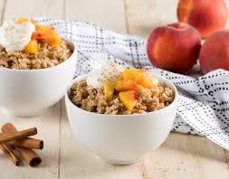 peach cobbler oatmeal quakeroats ca
