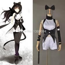 Spy Halloween Costumes Anime Rwby Cosplay Blake Belladonna Black Trailer Dress