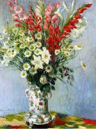 Bouquet Of Lilies Bouquet Of Gadiolas Lilies And Dasies 1878 Claude Monet