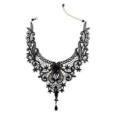victorian necklace black images Vintage lolita lace choker necklace victorian style vampire jpg