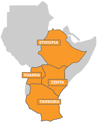 Eastern Africa Map by East Africa U2013 Res4africa