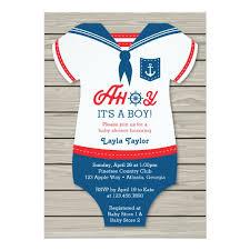 nautical baby shower invitations ahoy baby shower invitation sailor nautical card zazzle