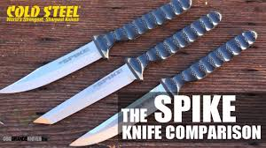 cold steel kitchen knives review bowie spike vs tanto spike vs tokyo spike knife comparison