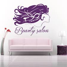 high quality hair wall decals promotion shop for high quality girl beauty salon sign wall decal art murals hair dryer haircut barber salon removable stickers vinyl hairdresser decals
