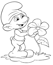 smurf coloring pages printable 321905