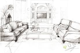 sketch room wonderful interior design sketches living room to decorating
