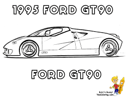ford gt coloring pages