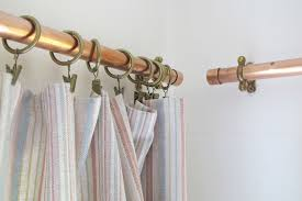 Curtain Railing Designs Copper Curtain Rail With Brass Fittings U2014 Whiteway Workshop