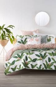this textured cotton quilt reverses from a vivacious tropical