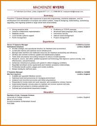 Resume Template It Example It Resume Resume Ideas