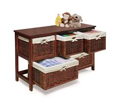 amazon com badger basket five basket storage unit with wicker