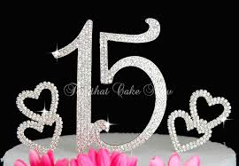 rhinestone number cake toppers deluxe quinceanera 15 numbers cake topper in