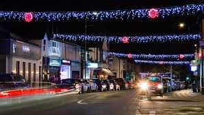 the christmas lights are on in hale thanks to fundraising