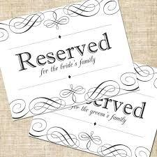 printable reserved table signs reserved seating signage elegant script printable wedding sign