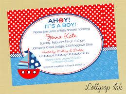 nautical baby shower invitation neepic com
